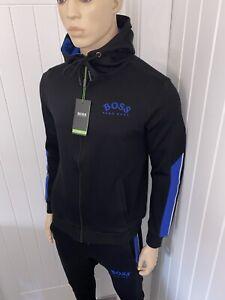Hugo Boss Tracksuit Hooded Jacket & Pants Mens Black New Season Size Medium £119