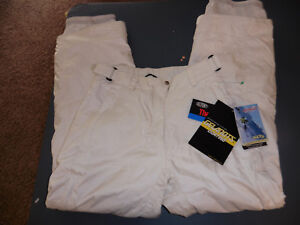 NWT womens obermeyer ski pants lined white sz 8 white