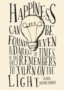 Inspirational Printed Harry Potter Quotes A4 Card Picture Poster Unframed