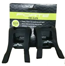 NEW Forte Toe Clips Medium Black (Men's 7.5 - 9.5) 37-7600 NWT