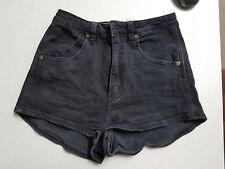 Womens / Teenager Rollas high waisted black denim Shorts size 6