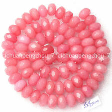 Faceted 5x8mm Rhodochrosite Gemstone Rondelle Loose Beads 15inch