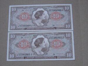 2 pcs x 10 Dollars MPC 641 (See Photos)
