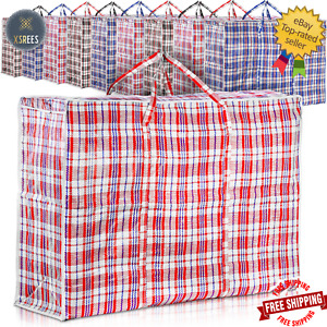 Jumbo Laundry Bags Zipped Reusable Large Strong Shopping Storage Bag With Handle