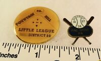2 Little League Baseball PINs - PA D24 Pine Grove D20 Fountain Hill