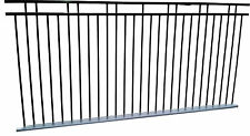 Alum Double rail Flat Top Pool Fence /Fencing 2.4x1.2-$82 panel Balcony fence