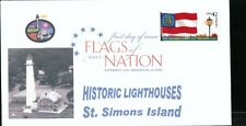 Flags of our Nation - Georgia (Sc. 4285) St. Simons Island Lighthouse