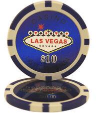 50pcs Las Vegas Laser Casino Clay Poker Chips $10