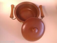 ART DECO BAUER POTTERY BROWN CASSEROLE COVERED BOWL  Vintage MID CENTURY MODERN