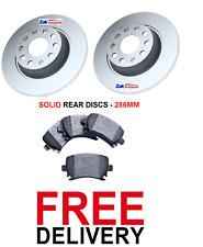 FOR VW PASSAT B6 (05-11) 1.6 1.8 1.9 TDi 2.0 REAR BRAKE DISCS AND PADS SET