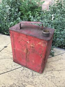 VINTAGE 2 GALLON PETROL JERRY CAN