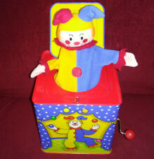 Schylling Clown Jester Jack-in-the-Box Pop Goes the Weasel Blue Red Yellow 2010