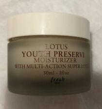 Fresh Lotus Youth Preserve Moisturizer 1 oz. New Without Box