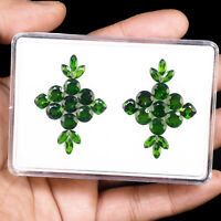 30 Pcs Natural Chrome Diopside 6mm-7mm Vivid Green Deluxe Quality Gemstones Lot