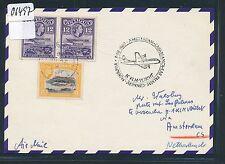 06497) KLM FF Amsterdam - Las Palmas Spanien 5.11.60, Karte ab Antigua RR!!