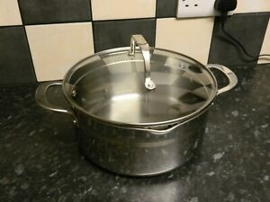 Tefal jamie Oliver stainless steel induction saucepan with lid 4.7 litre