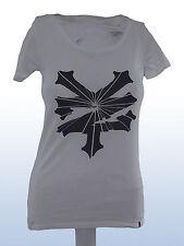 T-shirt donna bianco ZOO YORK tg xs extra small cotone manica corta
