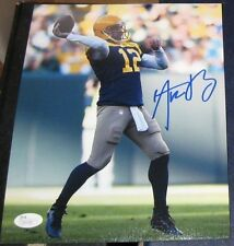 AARON RODGERS GREEN BAY PACKERS SIGNED AUTOGRAPHED RETRO 8x10 PHOTO JSA Q41186