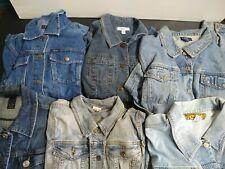 Bulk Clothing Lot: 6 Jacket Female Multi Vintage Denim Plus Medium / Large Sizes
