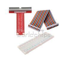 Raspberry Pi 2 B T Type GPIO Extension Shield +Breadboard+40Pin Rainbow Cable