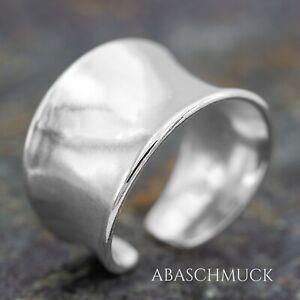 Silberring Silber 925 Ring  Verstellbar Offen R0751  massiv  breit, glatt,