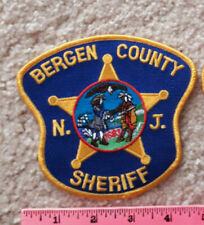 Bergen County New Jersey Sheriff Patch : deputy, law enforcement, police