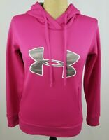 Under Armour Women's Hoodie Sweatshirt Small Pink Gray Camouflage STAINS
