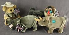 Lot Plush Toys Jungle Joes Safari Friends Talking Animals Hippo Rhino Mandrill