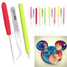 3pcs Paper Quilling Tool Tweezer Slotted Paper Needle Cardmaking DIY OrigamiTool