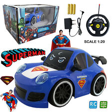 SUPERMAN FOR TOMORROW MAN OF STEEL ELECTRIC RC RADIO REMOTE CONTROL CAR KIDS TOY