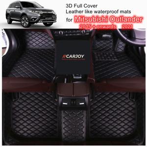 3D Black Customized Waterproof Car Floor Mats for Mitsubishi Outlander 15 - 2021