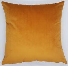 Handmade Plain Mustard Soft Velvet  Home Decor Cushion Cover 45x45 New