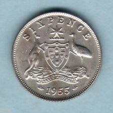 Australia.. 1955 Sixpence - Proof..  Mintage - 1200..