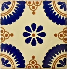 Flor Brillosa-Anaranjado (Sparkling Flower-Orange) Talavera Tile