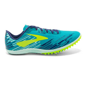 Brooks Womens Mach 18 Running Spikes Traction Blue Sports Breathable Lightweight