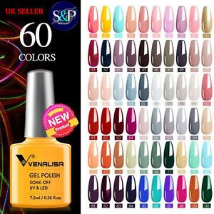VENALISA Professional UV/LED Soak Off Nail Gel Polish Colour -7.5ml UK NEW STOCK