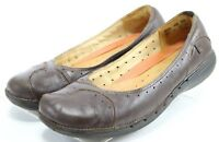 Clarks Unstructured Mary Jane $95 Women's Slip-On Comfort Shoes Size 11 Brown
