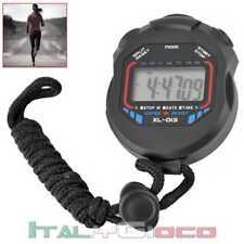 Cronometro Digitale LCD Timer Orologio Allarme Nuoto Sport Bici Moto XL-013 Nero