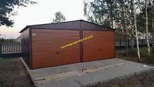 Blechgarage 6x7 mit Giebeldach H-Panel* Schuppe Lager Fertiggarage 4Kantprofil