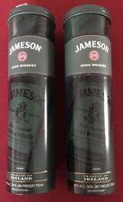 2 Jameson Irish Whiskey Tin Green Lidded Empty Bottle Holder Canister Collect