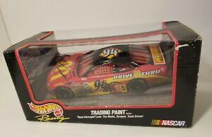 Nascar Hotwheels Diecast Car 1999 Edition Trading Paint #94 Bill Elliott -MC8