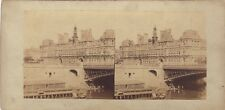 La Seine Hôtel de ville Vintage albumine ca 1865