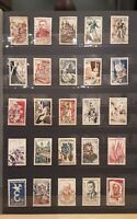 France 1950s -1960s - collection of 25 stamps ref 213