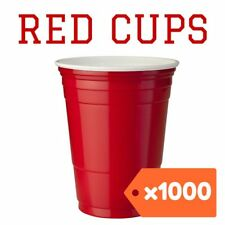 1000 American Red Party Cups Plastic beer solo supplies pong 425ml USA frat
