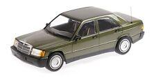 Mercedes-benz 190e (w201) 1982 Green Metallic 1:18 Minichamps