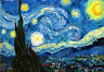A STARRY NIGHT - VINCENT VAN GOGH - REFRIGERATOR PHOTO MAGNET