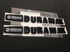 White&Matte Black Duramax Diesel Allison Emblem Style 2500HD 3500HD Badge - 2PCS