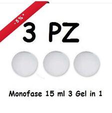 KIT 3 GEL UV MONOFASICO 3 IN 1 MONOFASE  15 ml DENSO NAIL CHIARO GERMANY nubyv