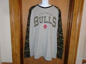 Chicago Bulls G III Men's Heavy Material T Shirt Camo Sleeve XXL NWT