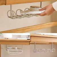 Under Desk Cable Management Tray Storage Organizer Wire Power Charger Cord H5B8